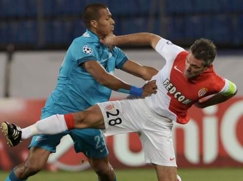 «Зенит» сыграл вничью с «Монако» вЛиге чемпионов